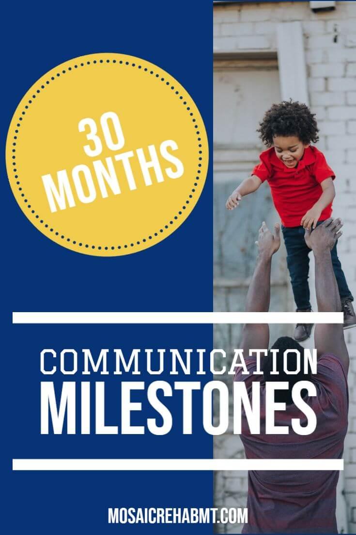 Communication Milestones 30 Months